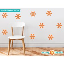 Flower Fabric Wall Decal (Set of 9)
