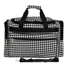 "Houndstooth 19"" Shoulder Duffel"