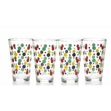 Dot 16 Oz. Tapered Cooler Glass (Set of 4)
