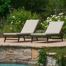 Morfin Chaise Lounge with Cushion (Set of 2)