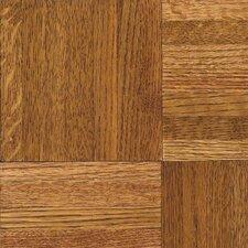 "Urethane Parquet 12"" Solid Oak Parquet Hardwood Flooring in Honey"
