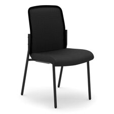 Armless Multi-Purpose Stacking Chair with Cushion