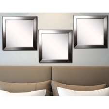 Ava Silver Rounded Wall Mirror (Set of 3)