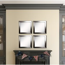 Ava Silver Rounded Wall Mirror (Set of 4)