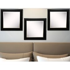 Ava Grand Black and Aged Silver Wall Mirror (Set of 3)