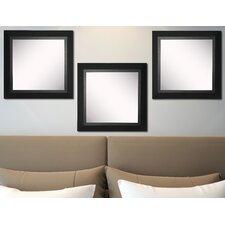 Ava Attractive Matte Black Wall Mirror (Set of 3)