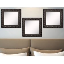 Ava Feathered Accent Wall Mirror (Set of 3)