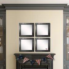 Ava Tuscan Ebony Wall Mirror (Set of 4)