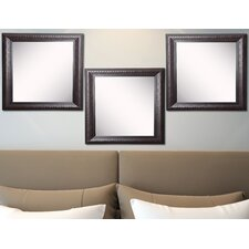Ava Royal Curve Beveled Wall Mirror (Set of 3)