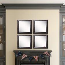 Ava Royal Curve Beveled Wall Mirror (Set of 4)