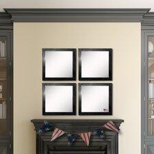 Ava Black Smoke Wall Mirror (Set of 4)
