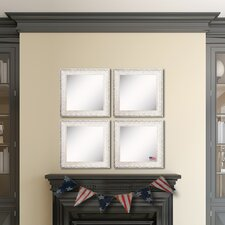 Ava French Victorian White Wall Mirror (Set of 4)