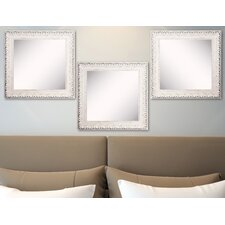 Ava French Victorian White Wall Mirror (Set of 3)