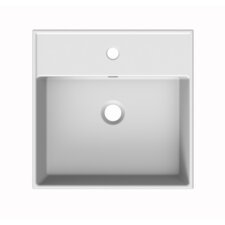 """Teorema Ceramic 24"""" Wall Mounted Sink with Overflow"""