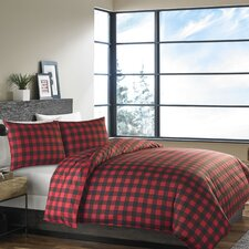 Mountain Plaid 3 Piece Reversible Comforter Set