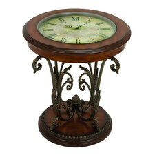Casa Cortes Round Clock Coffee and End Table