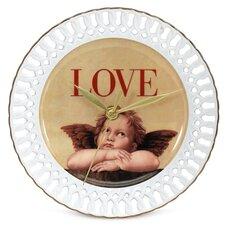 "Love Cupid 8"" Wall Clock"