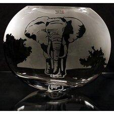 Elephant Scene Polish Art Vase
