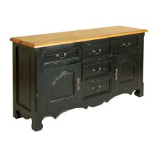French Painted 2 Door 5 Drawer Sideboard