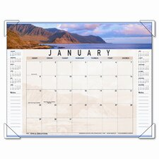 Panoramic Landscape Monthly Desk Pad Calendar