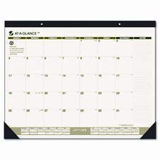 Recycled Monthly Desk Pad Calendar