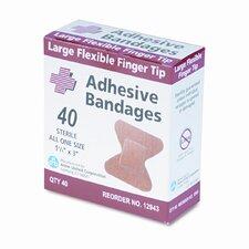 Flexible Large Fingertip Adhesive Bandages, 1-3/4 x 3, 40 per Box