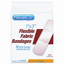 Physicianscare First Aid Fabric Bandages, Box of 50
