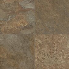 """Alterna Reserve 16"""" x 16"""" Engineered Stone Field Tile in Forest Green/Copper"""