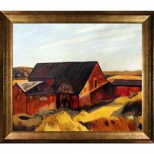 Cobb's Barns, South Truro, 1933 by Edward Hopper Framed Painting Print