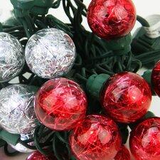 25 LED Tinsel Wide Angle LED G30 Globe Light String