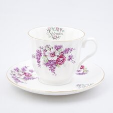 Flowers of the Month September 30cm Bone China Cup and Saucer