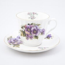 Flowers of the Month July 30cm Bone China Cup and Saucer