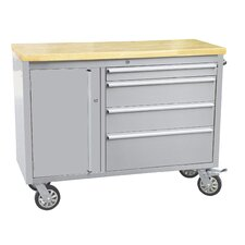 """48""""W 4-Drawer  Anti-Fingerprint Tool Chest with Work Station"""