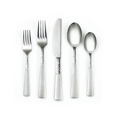 Rosa Sand/Hammered 20 Piece Flatware Set