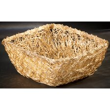 Gilded Square Twist Wire Mesh Basket