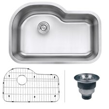 parmi 315 x 2113 undermount 16 gauge single bowl kitchen sink - Bowl Kitchen Sink
