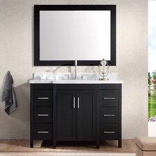 """Hollandale 49"""" Single Sink Vanity Set with Mirror"""