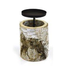 Birch Wood Dish Candle Holder