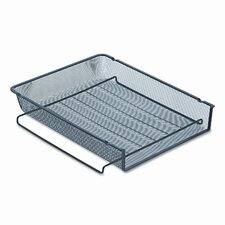 mesh stackable front load letter tray wire black