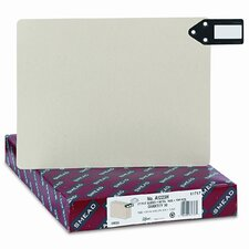 Pressboard Horizontal Metal End Tab Guides, Blank, 50/Box