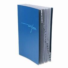 Deluxe Expandable Desk File, 1-20/A-Z Index, Legal Size, Pressboard, Navy Blue