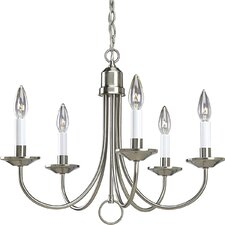 Brushed Nickel 5-Light Candle-Style Chandelier