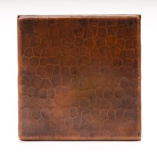 """4"""" x 4"""" Copper Hammered Tile in Oil Rubbed Bronze"""