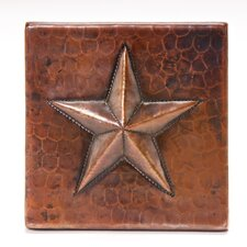 "4"" x 4"" Copper Star Tile in Oil Rubbed Bronze"