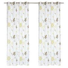 Blossom Nature/Floral Semi-Sheer Grommet Panel Pair (Set of 2)
