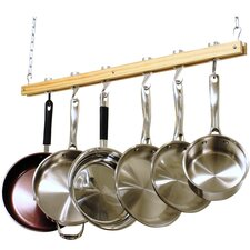 Ceiling Mounted Wooden Pot Rack