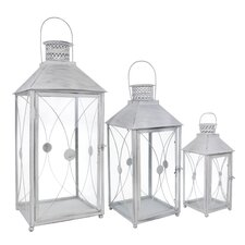 3 Piece Energicus Lantern Set in Antique White