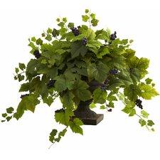 Grape Leaf Floor Plant in Urn