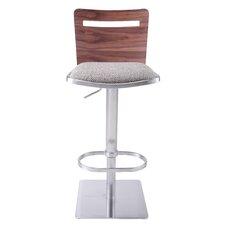Danika Adjustable Height Swivel Bar Stool With Cushion