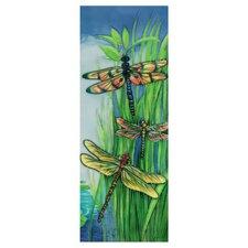 Vertical Dragonflies Tile Wall Decor